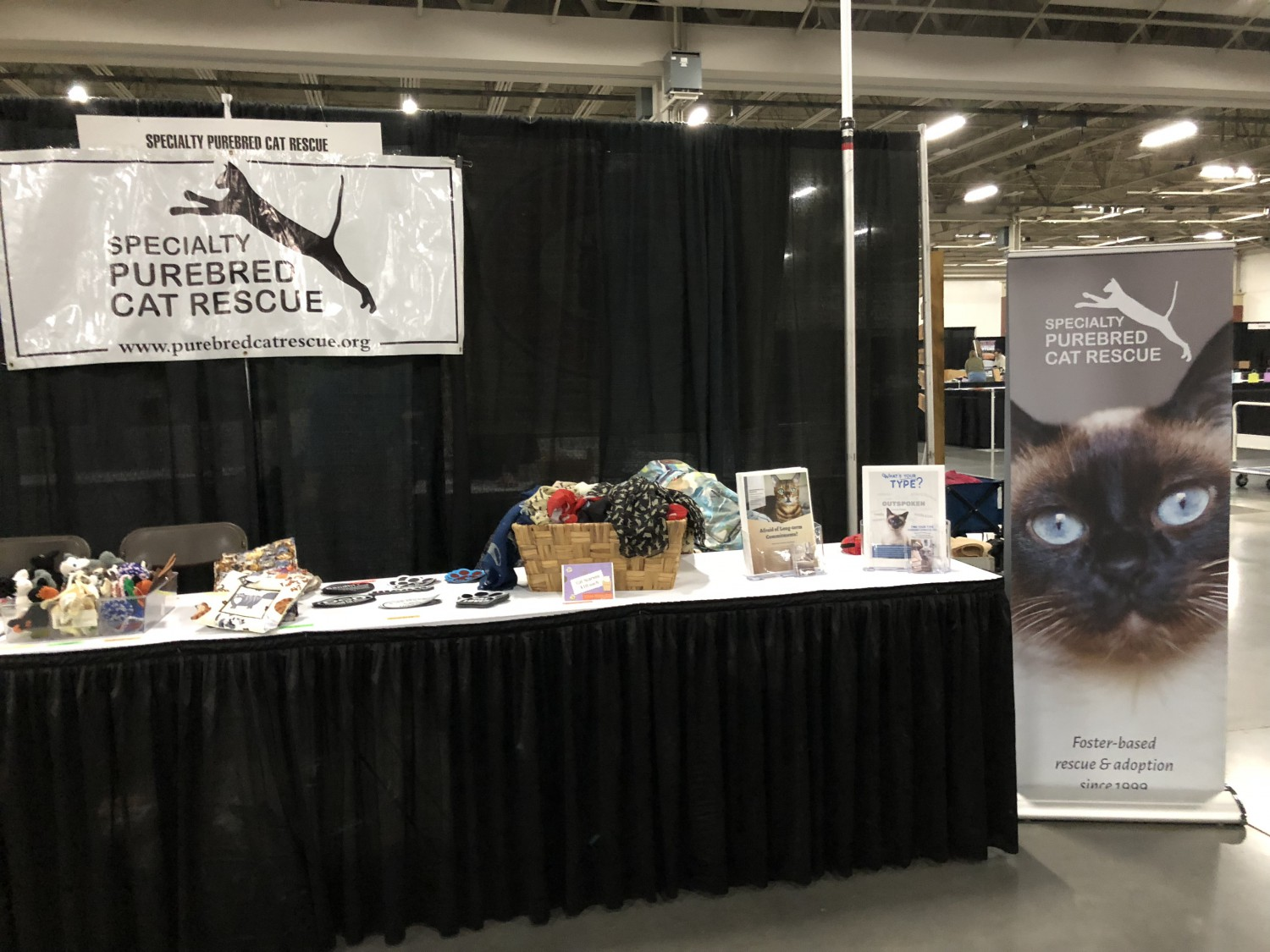 2018 SPCR Booth at the Great Lakes Pet Expo